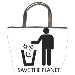 Save The Planet   Religions  Bucket Bags by Valentinaart