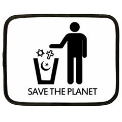 Save The Planet   Religions  Netbook Case (xl)  by Valentinaart