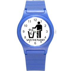 Save The Planet   Religions  Round Plastic Sport Watch (s) by Valentinaart