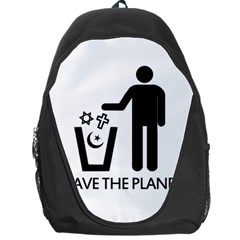 Save The Planet   Religions  Backpack Bag by Valentinaart