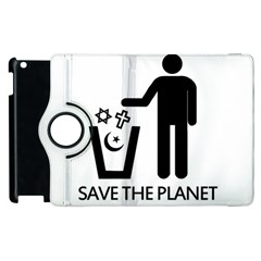 Save The Planet   Religions  Apple Ipad 2 Flip 360 Case