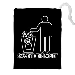 Save The Planet   Religions  Drawstring Pouches (xxl) by Valentinaart