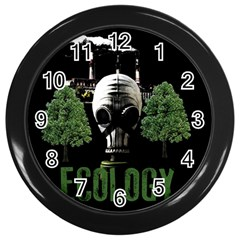 Ecology Wall Clocks (black) by Valentinaart