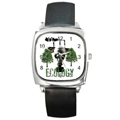 Ecology Square Metal Watch by Valentinaart