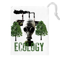 Ecology Drawstring Pouches (xxl) by Valentinaart