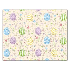 Easter Pattern Rectangular Jigsaw Puzzl by Valentinaart