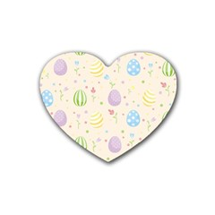 Easter Pattern Heart Coaster (4 Pack)  by Valentinaart