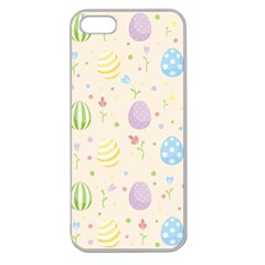 Easter Pattern Apple Seamless Iphone 5 Case (clear) by Valentinaart