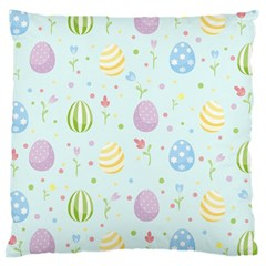 Easter Pattern Large Cushion Case (two Sides) by Valentinaart