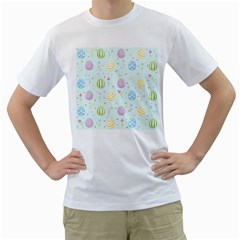 Easter Pattern Men s T Shirt (white)