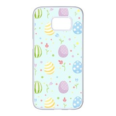 Easter Pattern Samsung Galaxy S7 Edge White Seamless Case