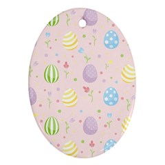 Easter Pattern Ornament (oval)