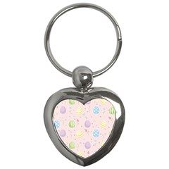 Easter Pattern Key Chains (heart)  by Valentinaart