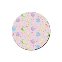 Easter Pattern Rubber Round Coaster (4 Pack)  by Valentinaart