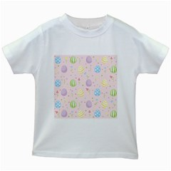 Easter Pattern Kids White T Shirts by Valentinaart