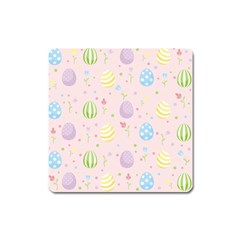 Easter Pattern Square Magnet by Valentinaart