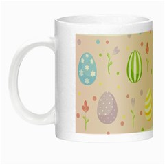 Easter Pattern Night Luminous Mugs by Valentinaart