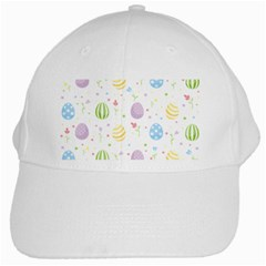 Easter Pattern White Cap by Valentinaart