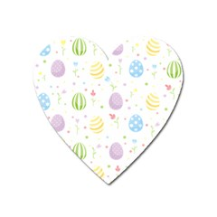 Easter Pattern Heart Magnet by Valentinaart