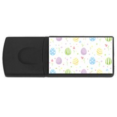 Easter Pattern Rectangular Usb Flash Drive by Valentinaart