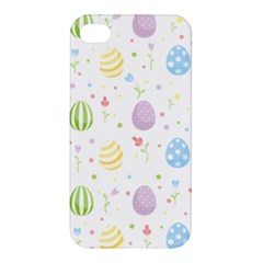 Easter Pattern Apple Iphone 4/4s Premium Hardshell Case by Valentinaart