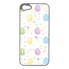 Easter Pattern Apple Iphone 5 Case (silver) by Valentinaart