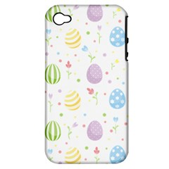 Easter Pattern Apple Iphone 4/4s Hardshell Case (pc+silicone)