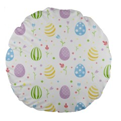 Easter Pattern Large 18  Premium Round Cushions by Valentinaart
