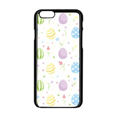 Easter Pattern Apple Iphone 6/6s Black Enamel Case by Valentinaart