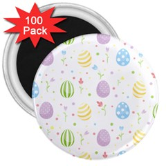 Easter Pattern 3  Magnets (100 Pack) by Valentinaart