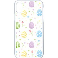 Easter Pattern Apple Iphone X Seamless Case (white) by Valentinaart