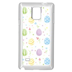 Easter Pattern Samsung Galaxy Note 4 Case (white) by Valentinaart