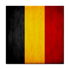 Belgium Flag Tile Coasters by Valentinaart