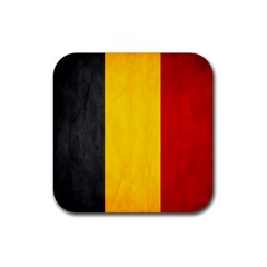 Belgium Flag Rubber Coaster (square)  by Valentinaart