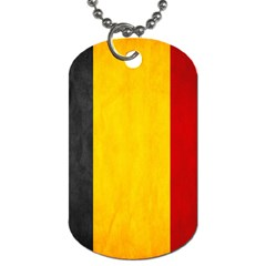 Belgium Flag Dog Tag (two Sides) by Valentinaart