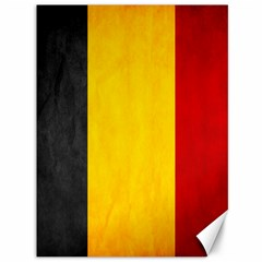 Belgium Flag Canvas 36  X 48   by Valentinaart
