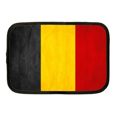 Belgium Flag Netbook Case (medium)  by Valentinaart