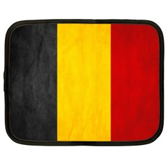 Belgium Flag Netbook Case (xxl)  by Valentinaart