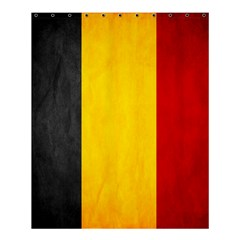 Belgium Flag Shower Curtain 60  X 72  (medium)  by Valentinaart