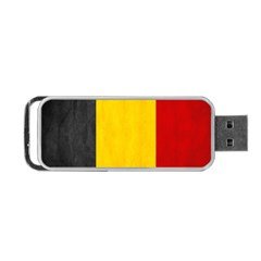 Belgium Flag Portable Usb Flash (two Sides) by Valentinaart