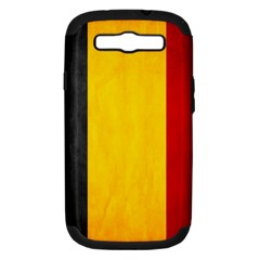 Belgium Flag Samsung Galaxy S Iii Hardshell Case (pc+silicone) by Valentinaart