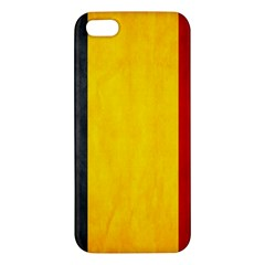 Belgium Flag Apple Iphone 5 Premium Hardshell Case by Valentinaart