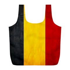 Belgium Flag Full Print Recycle Bags (l)  by Valentinaart