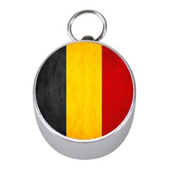 Belgium Flag Mini Silver Compasses by Valentinaart