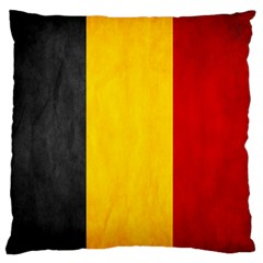 Belgium Flag Large Flano Cushion Case (one Side) by Valentinaart
