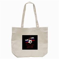 Russia Football World Cup Tote Bag (cream) by Valentinaart