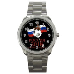 Russia Football World Cup Sport Metal Watch by Valentinaart