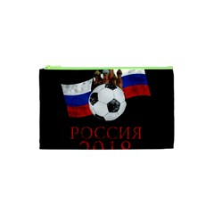 Russia Football World Cup Cosmetic Bag (xs) by Valentinaart