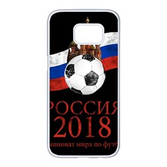 Russia Football World Cup Samsung Galaxy S7 Edge White Seamless Case by Valentinaart