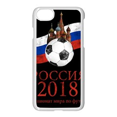 Russia Football World Cup Apple Iphone 8 Seamless Case (white)